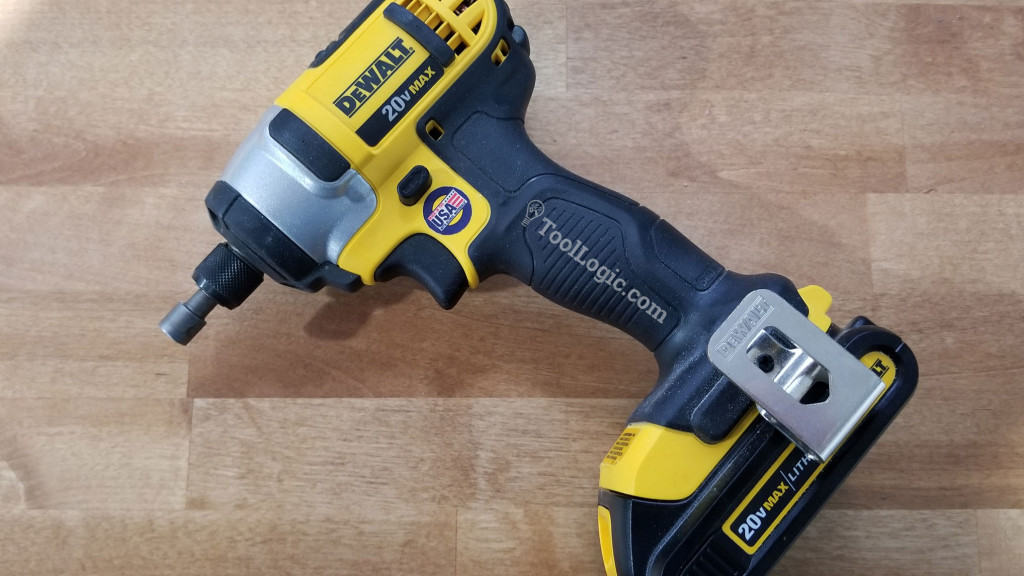Cordless Impact Driver from Dewalt on wood table